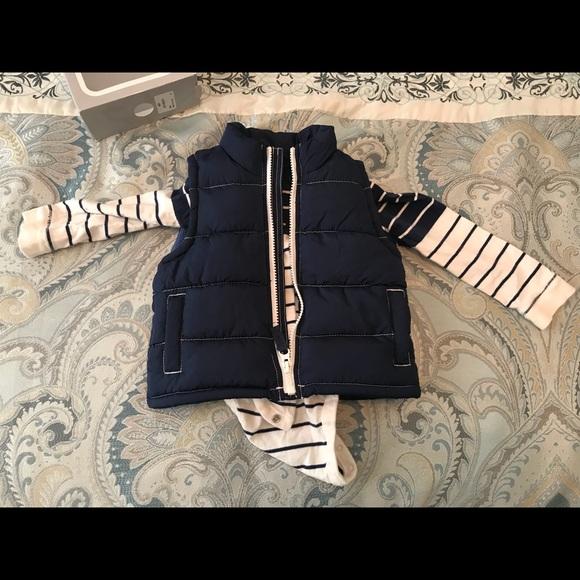 0e691411c Old Navy long sleeved onesie old navy vest